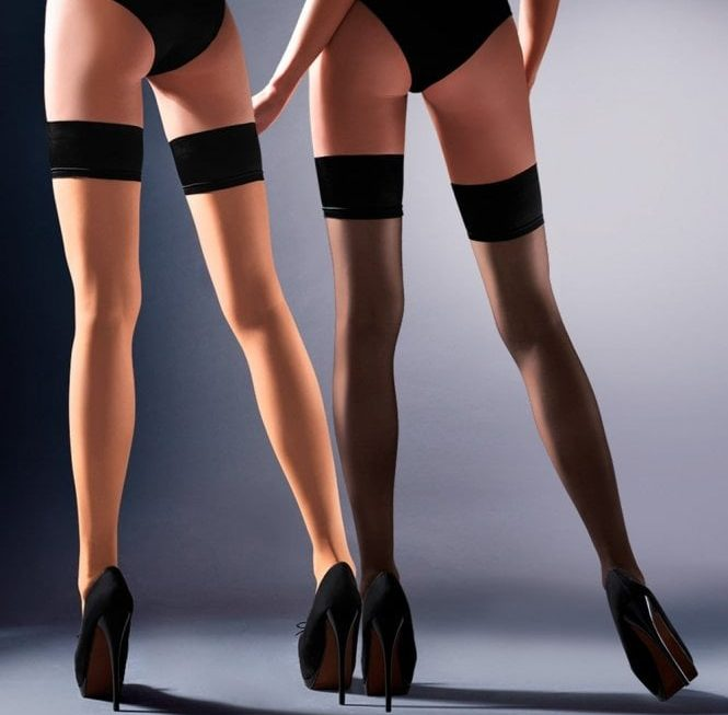 Sexy opaque hold ups for the colder months