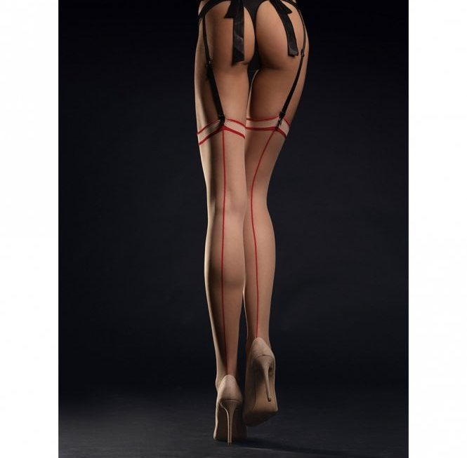 Why sheer backseam stockings stir up the office