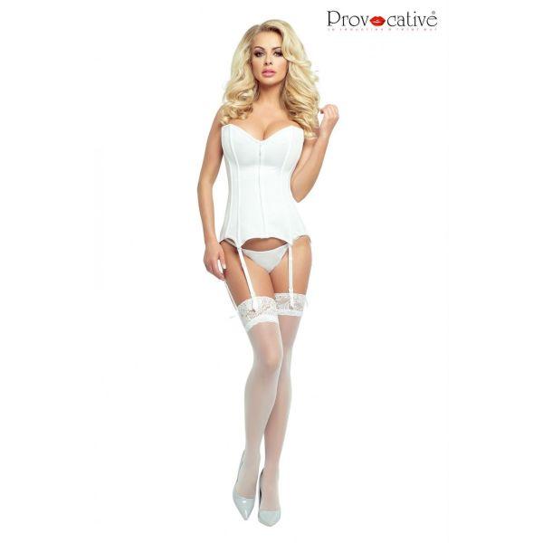 Provocative white corset