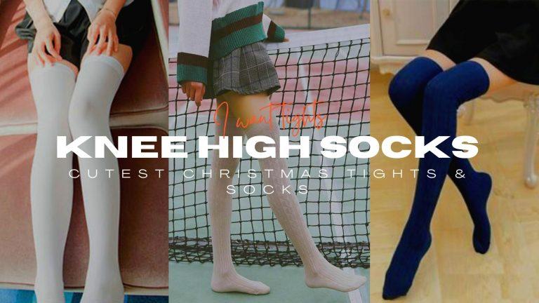 white knee high socks